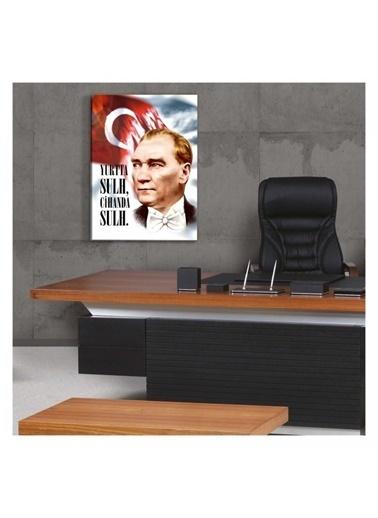 Artikel Atatürk-36 Kanvas Tablo 50X70 cm Renkli